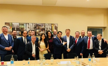 Verkiezingsbijeenkomst van het Albanian Business Network in Londen 24 september 2018